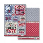 Craftstyle A4 Diecut Topper Sheet & Backing Sheet - Father's Day